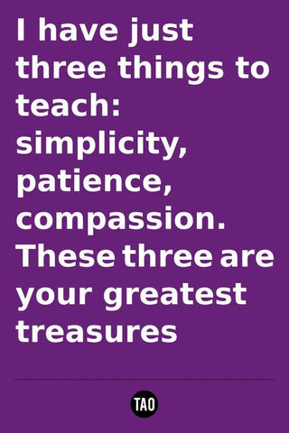 Greatest Treasures - Tao Motivational Quote |  PosterGully Specials
