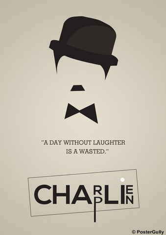 PosterGully Specials, Charlie Chaplin | Minimal Artwork, - PosterGully