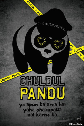 Brand New Designs, Chulbul Pandu Artwork | Artist: MyArtini Bar, - PosterGully - 1