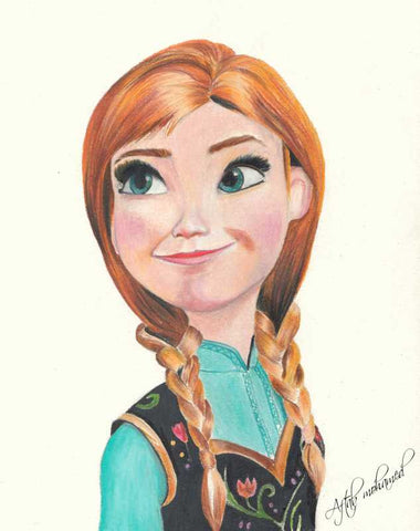 Wall Art, Anna Frozen Artwork | Artist: Aftab Mohamed, - PosterGully