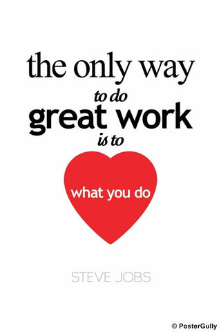 Wall Art, Steve Jobs | Heart What You Do, - PosterGully