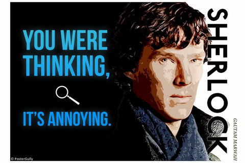 PosterGully Specials, Sherlock | You Were Thinking, - PosterGully