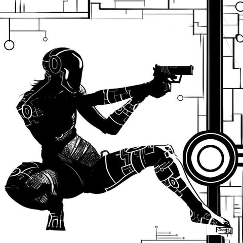 Square Art Prints, Future Spy black And White Artwork | Artist: Sachin Sivakumaran, - PosterGully