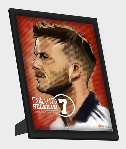 Framed Art, David Beckham | Name Says It All Framed Art, - PosterGully