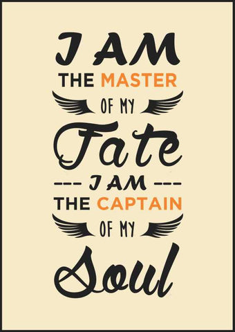 Wall Art, I Am The Master Of My Fate Artwork | Artist: Samarth Gupta, - PosterGully