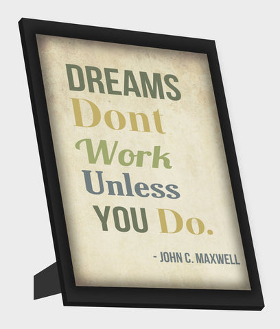 Framed Art, Work Hard Maxwell Quote Framed Art, - PosterGully