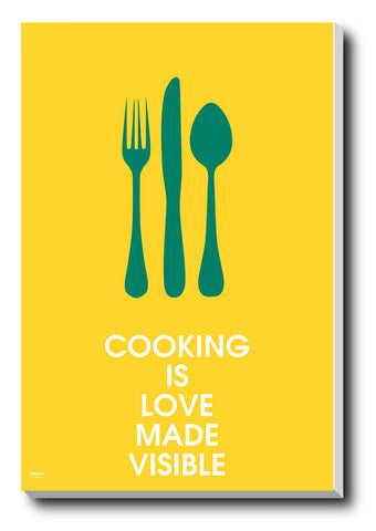 Canvas Art Prints, Cooking Stretched Canvas Print, - PosterGully - 1