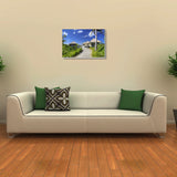 Canvas Art Prints, Paceful Morning Stretched Canvas Print, - PosterGully - 3