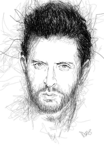 Wall Art, Hrithik Roshan Artwork | Artist: Tridib Das, - PosterGully