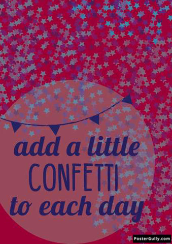 Wall Art, Confetti To Each day  Arwork 3 | Artist: Shloka Bajaj, - PosterGully