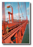 Canvas Art Prints, Golden Gate Bridge | Closeup Stretched Canvas Print, - PosterGully - 1