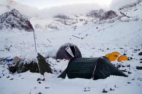 Wall Art, Camping In Snow, - PosterGully