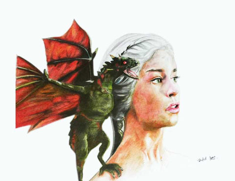 Wall Art, Khaleesi Game Of thrones Artwork | Artist: Tridib Das, - PosterGully