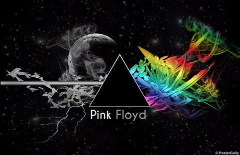 Wall Art, Pink Floyd Prism Artwork, - PosterGully