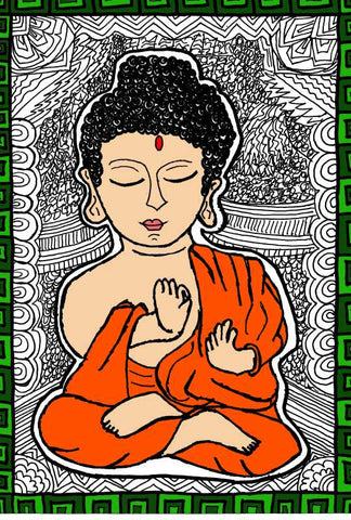 Brand New Designs, Buddha Artwork  | Artist: Aishwarya Girish Menon, - PosterGully