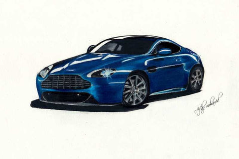 Wall Art, Aston Martin Artwork | Artist: Aftab Mohamed, - PosterGully