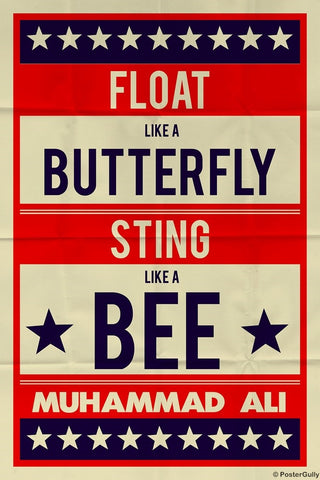 Wall Art, Muhammad Ali | Float Like A Butterfly Retro, - PosterGully