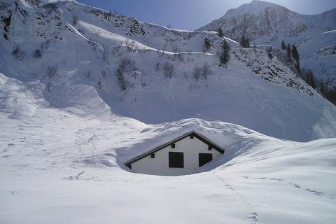 Wall Art, House Inside Snow, - PosterGully