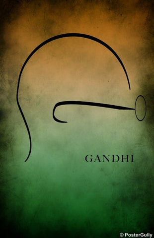 Wall Art, Gandhi | India Flag, - PosterGully