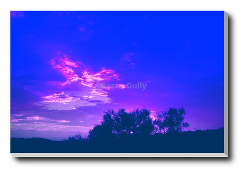 Canvas Art Prints, Blue Skies Purple Clouds Stretched Canvas Print, - PosterGully - 1