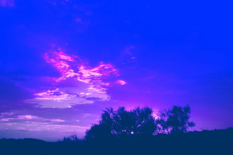 Wall Art, Blue Skies Purple Clouds, - PosterGully