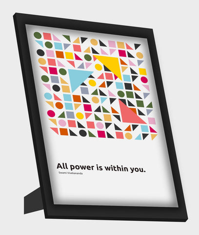 Framed Art, All Power Is Within You Swami Vivekananda Quote Framed Art, - PosterGully