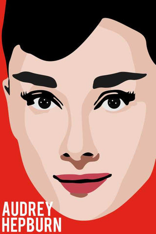 Audrey Hepburn Pop Red |  PosterGully Specials