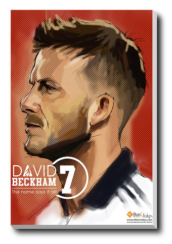 Canvas Art Prints, David Beckham Artwork Stretched Canvas Print, - PosterGully - 1