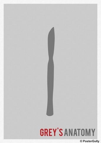 Wall Art, Grey's Anatomy Minimal, - PosterGully