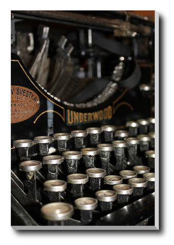 Canvas Art Prints, Old Typewriter Stretched Canvas Print, - PosterGully - 1