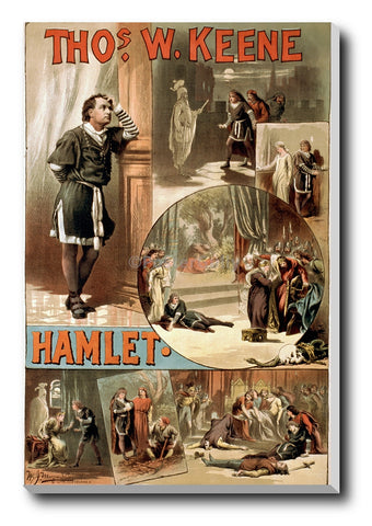 Canvas Art Prints, Hamlet Old Poster Stretched Canvas Print, - PosterGully - 1