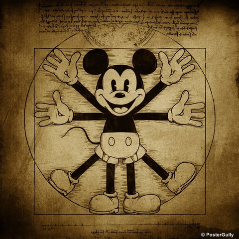 PosterGully Specials, Vitruvian Mouse Artwork, - PosterGully