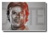 Canvas Art Prints, Dexter T.V Series Stretched Canvas Print, - PosterGully - 1