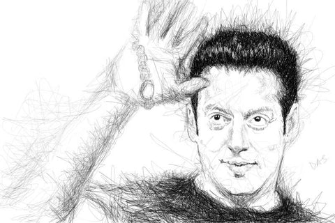Wall Art, Salman Khan Artwork | Artist: Tridib Das, - PosterGully