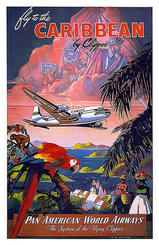 Wall Art, Fly To Caribbean, - PosterGully