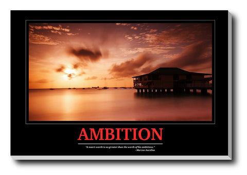 Canvas Art Prints, Ambition Stretched Canvas Print, - PosterGully - 1