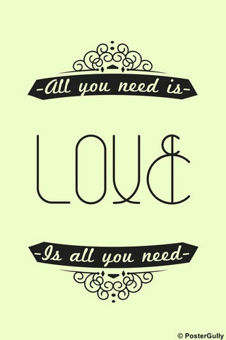 Wall Art, Love | All You Need | By Archana, - PosterGully