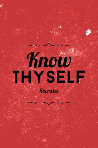 Know Thyself Socrates Quote |  PosterGully Specials