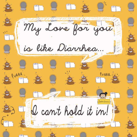 Square Art Prints, Love Like Diarrhea Artwork | Artist: Doodleodrama, - PosterGully