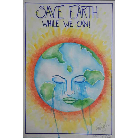 Wall Art, Save Earth painting  | Artist: Vikram Singh, - PosterGully