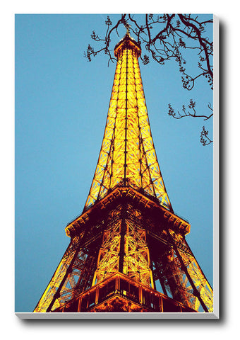 Canvas Art Prints, Eiffel Tower Stretched Canvas Print, - PosterGully - 1