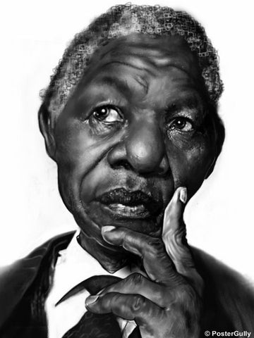 Wall Art, Mandela Caricature, - PosterGully