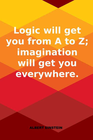Logic Vs Imagination Albert Einstein Quote |  PosterGully Specials