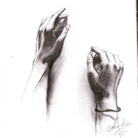 Square Art Prints, The Magical Hands Artwork  | Artist: Asees Kaur, - PosterGully