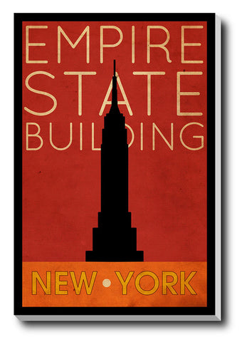 Canvas Art Prints, Empire State Stretched Canvas Print, - PosterGully - 1
