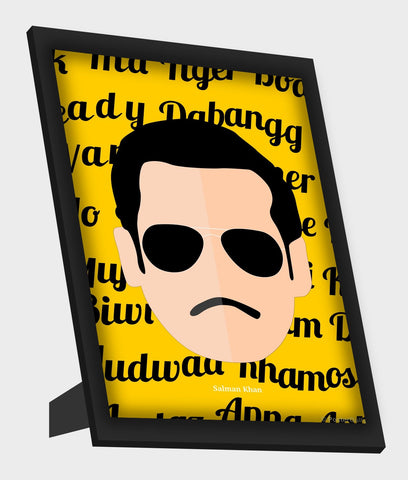 Framed Art, Salman Khan Minimal Framed Art, - PosterGully