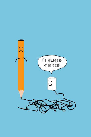 Pencil Eraser Humour Love Artwork |  PosterGully Specials