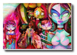 Canvas Art Prints, Anime Abstract Stretched Canvas Print, - PosterGully - 1