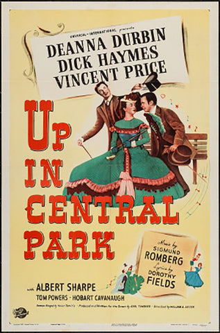Brand New Designs, Up In Central Park | Retro Movie Poster, - PosterGully - 1