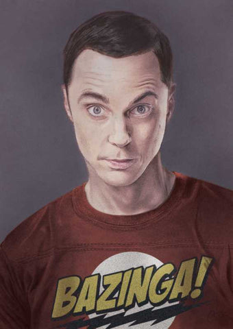 Wall Art, Sheldon Cooper Sketch Artwork | Artist: Amit Kumar, - PosterGully